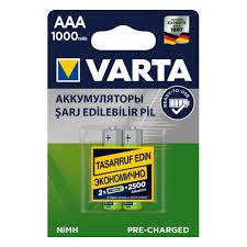 <b>Аккумулятор VARTA</b> LR03 <b>AAA</b> 1000 mAh R2U (уп 2 шт) — купить ...