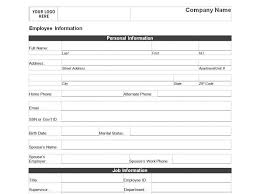 new employee information form template new employee information form