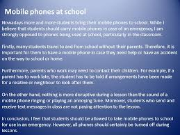 opinion essay an opinion essay presents our personal opinion on a  nowadays more and more students bring their mobile phones to school while i believe that