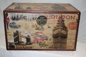 stacking home decor storage trunks decorative london scene wooden storage trunks  sizes available