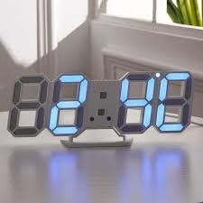 <b>3D LED Wall Clock</b> Modern Digital Alarm Clocks Table Nightlight ...