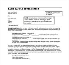 Sample Cover Letter Example for Job - 13 + Download Free Documents ... Basic Sample Cover Letter