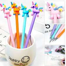 <b>1 Pcs</b> Cute Kawaii <b>Rainbow Unicorn</b> Horse Angel Gel Pen School ...