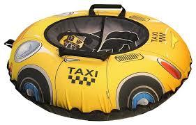 Купить <b>Тюбинг RT</b> Эксклюзив Такси 100 см 6287 желтый/черный ...