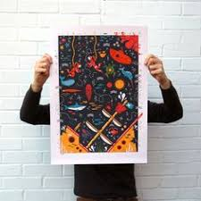 Solar System Screen Printed Poster The Solar System Silk | Jocke ...