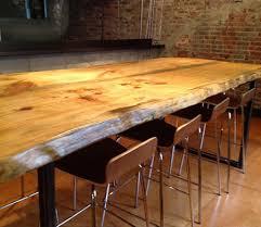 wood slab dining table beautiful:  live edge wood slab dining table