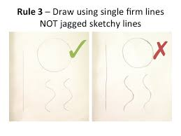 drawing scientific diagramrule    draw all straight lines using a ruler