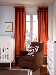 staggering bright orange curtain panels decorating ideas gallery in nursery contemporary design ideas burnt red home office