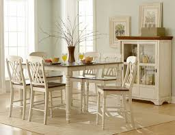 Distressed White Kitchen Table Dining Room How To Paint A Distressed Looking White Dining Table
