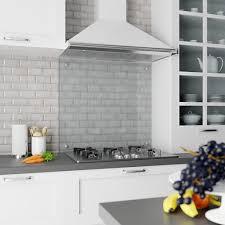 Heat <b>Resistant Tempered</b> Glass Splashback - Opti White <b>Transparent</b>
