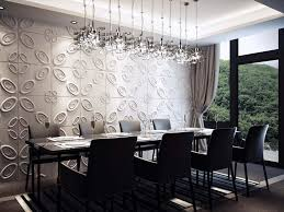dining room wall decorating ideas: dining room wall decor ideas along with retro board as wall design for dining room filled with oval motives and silver metallic plates forming cover for