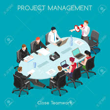 staff motivation cliparts stock vector and royalty staff staff motivation startup teamwork brainstorming office meeting room interacting people unique isometric realistic poses
