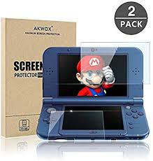 Screen Protector for Nintendo 3DS <b>XL</b>, Akwox HD <b>Clear</b> Crystal <b>PET</b>