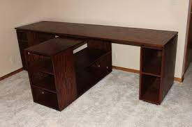 ana white 2 person desk diy projects ana white completed eco office desk