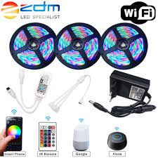 5M 10M 15M WIFI <b>LED Strip RGB</b> SMD 3528 5050 12V Flexible ...