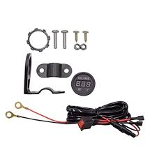 Buy D DOLITY <b>12V 24V Mini Red</b> LED Digital Volt Monitor Voltmeter ...