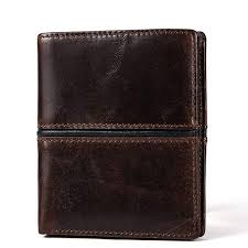 <b>Genuine Cowhide Leather Men</b> Wallet, Vintage With Coin Holder ...