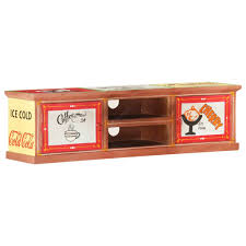 <b>TV Cabinet 130x30x36 cm</b> Hand Painted Solid Mango Wood Sale ...
