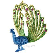 Елочное <b>украшение Павлин</b> 12 см разноцветный, подвеска ...