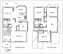 Residential House Floor Plans  how to draw stairs in a floor plan    Residential House Floor Plans