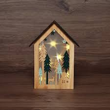 Фигура светодиодная <b>Neon</b>-night Домик в лесу 8 х <b>LED</b>, 26 см ...