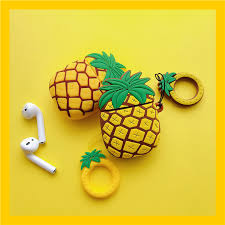 Cute 3D <b>Pineapple</b> Fruit Shockproof <b>Headphone Cases For</b> Apple ...