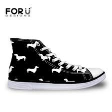 FORUDESIGNS Autumn <b>Classic Women Canvas Shoes</b> White Black ...