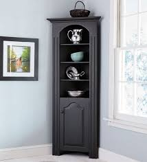 corner cabinets dining room: amazing black corner curio cabinet furniture design ideas and wall decor the dining room
