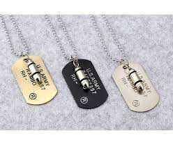 <b>2018 New Fashion Punk</b> Rock Bullet Army Card Necklace For ...