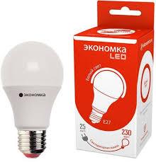 Отзывы на <b>Лампочка Экономка LED</b> A60, Дневной свет, <b>E27</b>, 25 ...