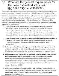 general requirements for the loan estimate disclosure post trid 5 1 full