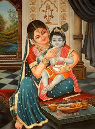 Image result for picture of bal krishna and yashoda