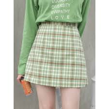 <b>High waist a word</b> skirt retro Korean short skirt | Shopee Philippines
