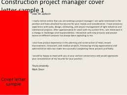 construction project manager cover letter construction manager cover letter