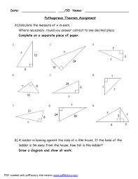 48 pythagorean theorem worksheet answers word pdf pythagorean theorem 03