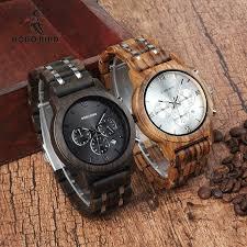 BOBO BIRD <b>Wooden Watch Men</b> relogio masculino Wood Metal ...
