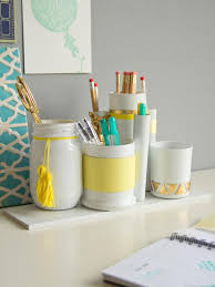 stylish white and yellow desk organizers bathroomcute diy office homemade desk