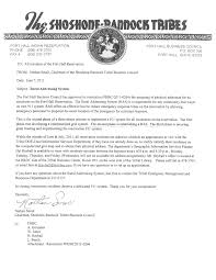 news from the shoshone bannock tribes rural addressing system letter