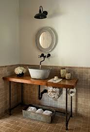 funky bathroom lights:  ideas about industrial bathroom faucets on pinterest ice dams industrial bathroom and penny countertop
