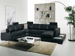 Of Living Rooms With Black Leather Furniture Black Lounge Furniture T Modern Black Leather Sectional Living
