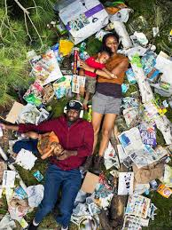 terrifying photos of people lying in days worth of their garbage 7 days of garbage environmental issues photography gregg