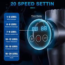 <b>Muscle Massage Gun</b>, 20 Speeds Deep Tissue Percussion ...