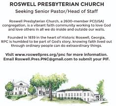 pastor nominating committee roswell presbyterian church co chairs pastor nominating committee roswell pres pnc chairs gmail com
