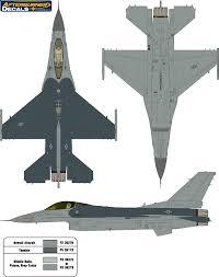 General Dynamics F-16 Fighting Falcon USAF <b>Two</b>-<b>Color</b> ...