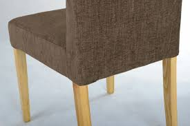 Fabric Dining Room Chairs Uk Vasa Dining Chair With Changeable Cover Nut Brown