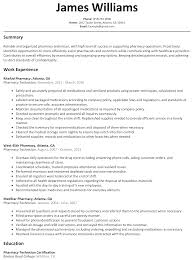 pharmacy technician resume sample com