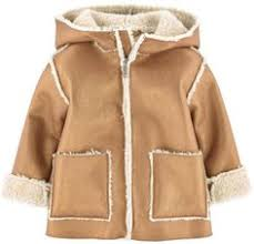 <b>Urban Republic</b> Girls' Shearling <b>Jacket</b> with Hood - Caramel Tan ...