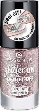 <b>Лак для ногтей</b> Essence <b>Glitter</b> on <b>glitter</b> off, №02, 8 мл