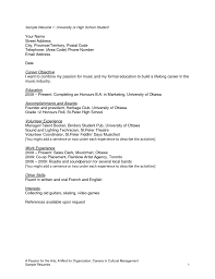 high school resume no work experience resume for high school    resume for high school student