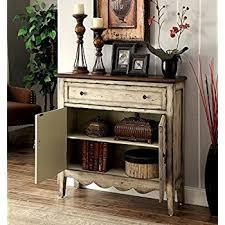 furniture of america gladen vintage style storage cabinet antique whitebrown amazoncom stein world furniture anna apothecary